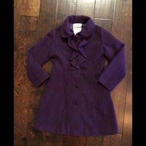 American Widgeon Girl's Plum color Pea Coat
